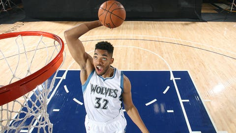 Timberwolves select Karl-Anthony Towns with No. 1 overall draft pick