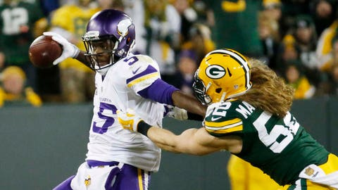 Vikings at Packers (NFC North Championship): 1/3/16