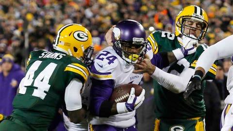 High point: Defeating Green Bay on Jan. 3 at Lambeau Field