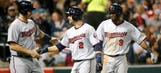 Twins win behind Dozier's homers, Gibson's strong start