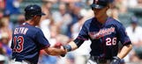 Twins win series, rout Rangers 15-5