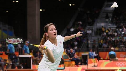 Paula Lynn Obanana, doubles badminton