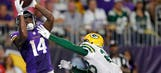 Phenomenal start has Vikings' Diggs leading NFL in receiving yards
