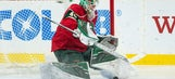 Dubnyk makes 15 saves, Wild beat road-weary Jets 3-1