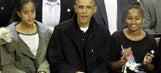 President Barack Obama attends Akron basketball game