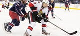 Late goal leads Senators to 3-2 win over Blue Jackets