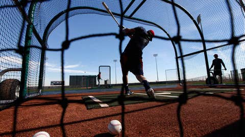 Cleveland Indians spring training workouts
