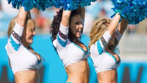 Panthers cheerleaders