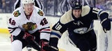 Smith's goal with 3.7 seconds left lifts Chicago past Blue Jackets