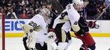 Penguins falter late, Jackets capitalize