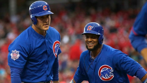 Chicago Cubs, 9-17, tied for fourth place