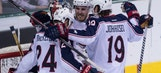 Jackets clinch playoff berth in 3-1 victory over Stars