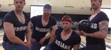Indians pitchers show some skin during bowling benefit
