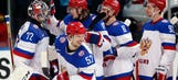 Bobrovsky shutout propels Russia forward at worlds
