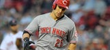 Reds place Schumaker on DL with concussion, recall Lutz