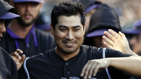 June 14 - Jorge De La Rosa becomes Rockies career wins leader
