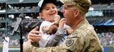 Home from Afghanistan: Dad surprises son before Mariners-Indians game