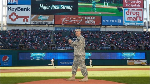 Rick Strong -- Indians 1st pitch