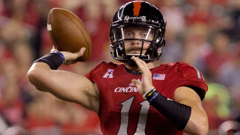 Gunner Kiel signed with Notre Dame, redshirted for a year, then transferred to Cincinnati.