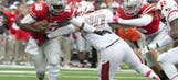 Barrett's 5 TDs power No. 13 Ohio State in 56-17 rout Rutgers