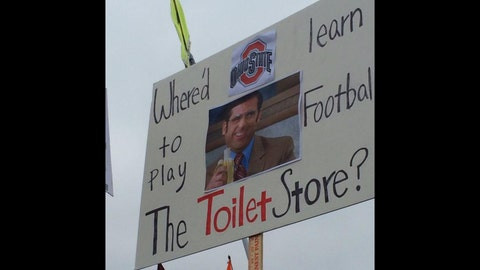 'Where'd Ohio State learn to play football, the toilet store?'