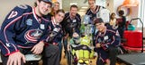 Blue Jackets score smiles visiting local hospital