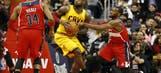 Cavaliers-Wizards pregame dribbles