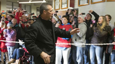 Meyer greets the fans
