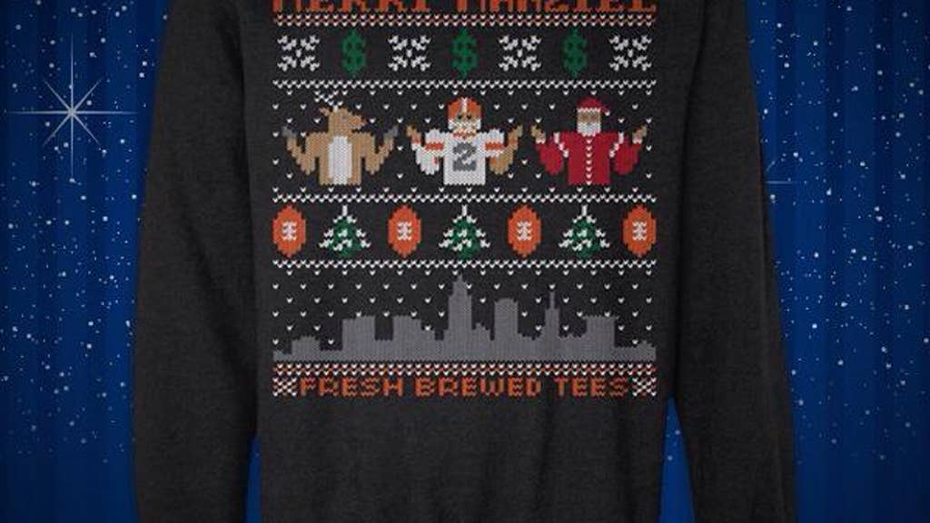 competitive price 8523b 0c855 Merry Manziel' and more NFL player ugly Christmas sweaters ...