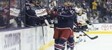 Photos from the Jackets' 6-2 win over the Bruins