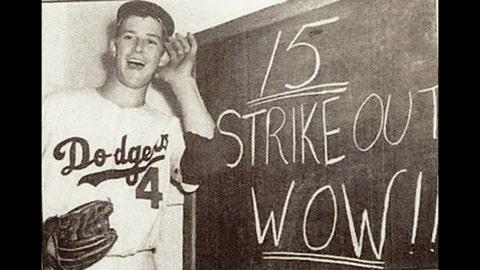 Karl Spooner, Brooklyn Dodgers (Sept. 22, 1954)