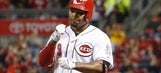 Reds OF Byrd fractures right wrist