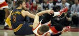 Hawks' G Korver out for the playoffs with sprained ankle