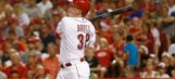 Bruce hits last of Reds' 3 HRs for 5-4 win over Cubs