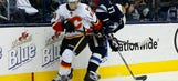 Jackets fall to Flames 4-2 after Bob leaves game with injury