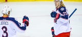 Karlsson nets two, Blue Jackets beat Flames 2-1