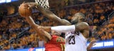 Cavaliers blow 18-point lead, hang on for Game 1 win over Hawks