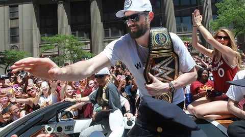 Some players want rings. Kevin wants belts.
