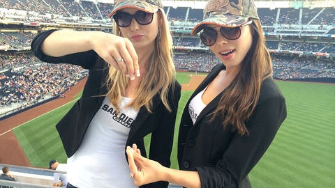 Katie and Brie at the Ballpark