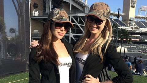 Katie and Brie at Ballpark