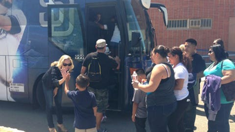 Gold Star Families Board the FSSD Fan Express