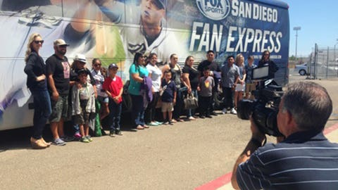 FSSD Girls and Gold Star Families with the Fan Express