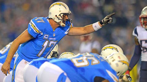 Philip Rivers passing yards -- OVER 285.5