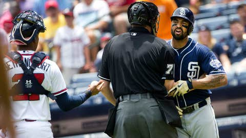 Matt Kemp restrained
