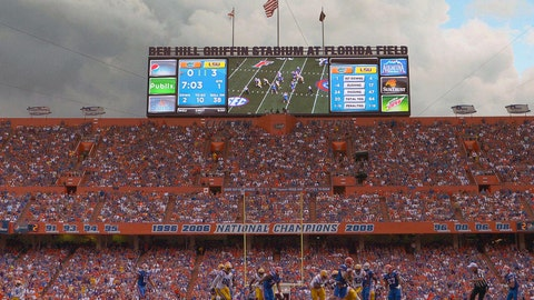 Florida Gators: 4,110 sq. ft; 137 x 30