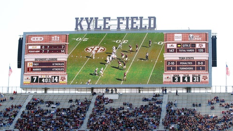 Texas A&M Aggies: 7,661 sq. ft; 163 x 47