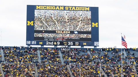 Michigan Wolverines: 3,995 sq. ft; 85 x 47