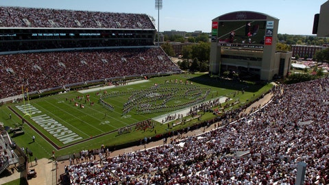 Mississippi State Bulldogs: 5,217 sq. ft; 111 x 47