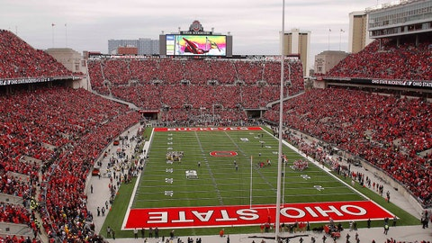 Ohio State Buckeyes: 5,208 sq. ft; 124 x 42
