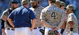 Padres' sloppy defense gives Dodgers 5-1 win, series